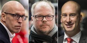Fredrik Andersson (vänster) blir inte Modos sportchef. Han, Kent Norberg och Johan Widebro ger sina svar i denna artikel. Foto: Bildbyrån.