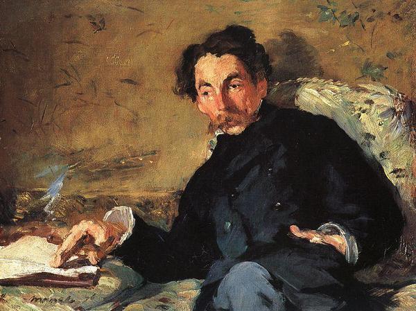 Stéphane Mallarmé, målning av Édouard Manet från 1876.