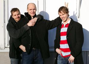 Sanny Lindström, längst till vänster, med backpartnern Kalle Koskinen och Robert Carlsson. En trio som har betytt mycket för Timrå.