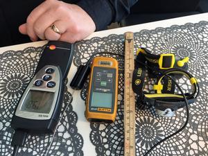 Nödvändiga verktyg vid en energideklaration.