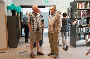 Lennart Larsson och Christer Fredriksson är här och firar invigningen som gamla Grängesbergsbor. -Jag har ju varit här sen jag var barn säger Christer, så det är många minnen som väcks till liv!