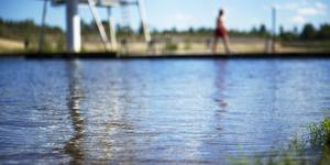 Karlslundsbadet i centrala Bollnäs.