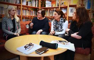 Cathrine Lindberg, Maud Hållberg, Malin Sahlén och Pia Hörnkvist, lärare på Ängetskolan är extremt kritiska till kommunens val att inte förnya avtalet med Medienavet.