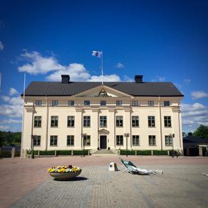 PÅ INSTA, bildtext: RESIDENSET. #Härnta #landshövdingenshus #torg #blåst