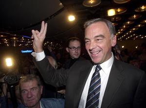 Folkpartiets ledare Lars Leijonborg, valet 2002. Foto: Anders Wiklund/SCANPIX