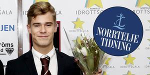 Gustav Harning fick ta emot NT-sportens Ungdomsstipendium för 2018.