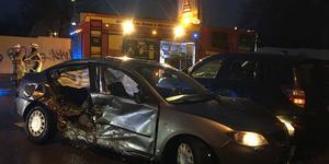 Vid 15-tiden på söndagen inträffade en trafikolycka på Norrleden i Västerås.