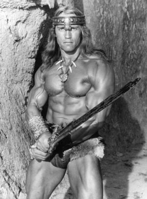Arnold Schwarzenegger som Conan barbaren 1982. Foto:  AP