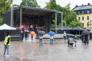 Bandet Verkligheten hade otur med vädret.