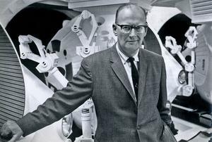 Arthur C. Clarke besöker inspelningsplatsen av