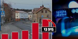 Sett till antal invånare är brottsligheten i Ljusnarsberg  en av landets högsta. Bild: Anders Almgren/NA/TT