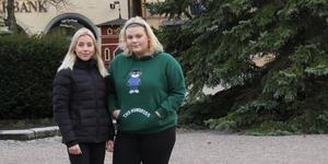 Lisa Lindfors (vänster) och Love Dahlgren (höger).
