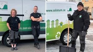 Birgitta Näslund, Emil Hansson och Lars Lundgren på Solatum.