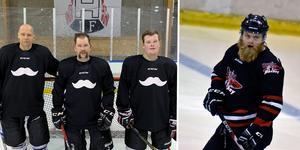På lördag klockan 13 är det nedsläpp mellan Husum Hockey och KB 65 – en match som innebär en insamling till Prostatacancerförbundet. Bild: Privat och Per Hägglund/arkiv