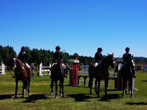 Vinnarna i lagtävlingen blev Gagnefs Ridklubb från Dalarna.
