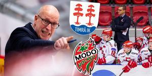 Fredrik Andersson är kvar i Timrå – men hans lag är kraftigt förändrat mot förra säsongen. Björn Hellkvist i Modo har däremot inte behövt göra många förändringar. Foto: Bildbyrån
