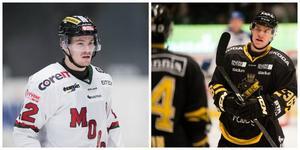 Emil Molin och Anton Holm, två heta spelare att hålla koll på i mötet mellan Modo och AIK.Bild: Bildbyrån.