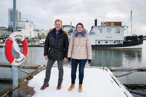 Peter och Helena Bergström döpte båten till Freedom. Den är troligen från början av 1900-talet och var en gång en passagerarslup. Den finns inte med i något skeppsregister, så det är svårt att få fram mer om dess historia.Foto: Vilhelm Stokstad / TT