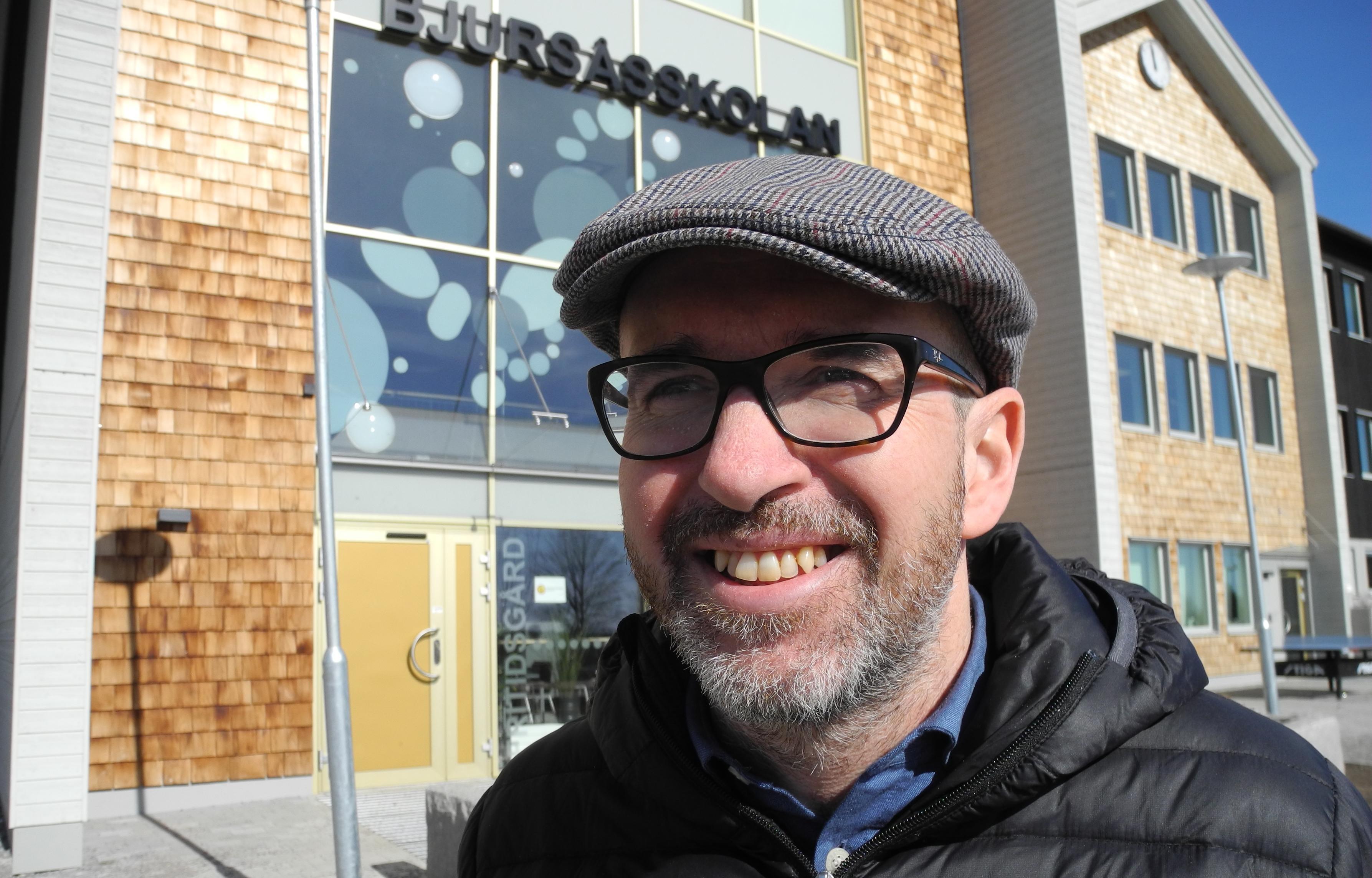 Amar Enochsson, lärare sedan 20 år tillbaka på Bjursåsskolan.