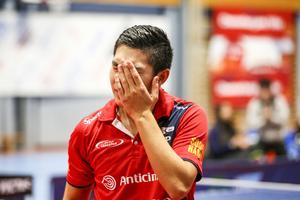 Anthony Tran förlorade fösta suddenmatchen mot Michal Obeslo.