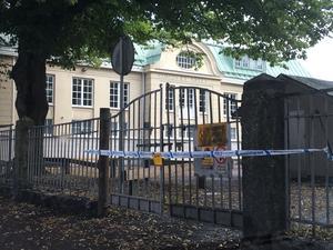 Måndag 19 augusti var skolans gård avspärrad på grund av ett misstänkt våldtäktsförsök.