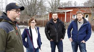 Stefan Toll, Linda Svahn (S), Johan Nordh och Daniel Heed.