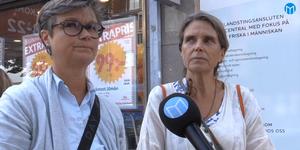 Eva Bagge och Anna Loikars, patienter på Vidar vårdcentral.