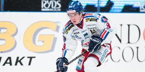 Lukas Pilö i Oskarshamndressen förra säsongen. Bild: Andreas Sandström/Bildbyrån.