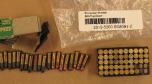 Vid en husrannsakan i 34-åringens bostad hittar utredarna ammunition...
