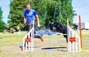Max Wiklund från Mora tävlade med hunden Ruffs, som han tävlat ihop med sedan år 2010.