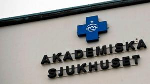 På akademiska sjukhuset i Uppsala har planerade operationer ställts in på grund av materialbrist. Foto: Henrik Montgomery/TT