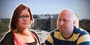 Undersköterskorna Mikaela Thornlund Karlsson och Tommie Karlsson är missnöjda över kommunens besparingar och arbetsförhållanden. Fotomontage.