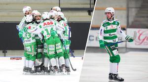 Robin Andersson gjorde tre mål när VSK avslutade gruppspelet med en seger mot Edsbyn.