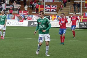 Alexander Zetterström drog på sig sin tredje varning när Brage spelade 1–1 mot Helsingborg.