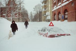 Det är svårt att förstå omfattningen av snökaoset i Gävle för 20 år sedan om man inte var där. Arkivbild GD