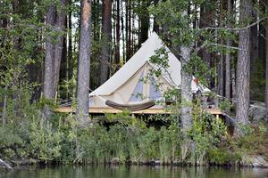 Glamping- en lyxigare variant av camping.