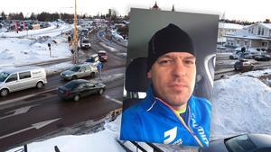 Magnus Sjöström i Mora bestämde sig för att i en video på Facebook gå igenom några trafikregler. Bilden är ett montage.