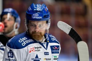 Leksands Mattias Ritola gjorde lagets båda mål i förlusten mot AIK. Foto: Daniel Eriksson/Bildbyrån