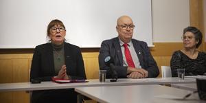 Regiondirektören Karin Stikå Mjöberg, regionrådet Ulf Berg och regionjuristen Lena Jönsson berättade om den polisanmälan som lämnats in.