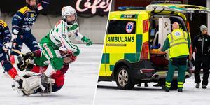 Den otäcka krocken gjorde att ambulans fick tillkallas.