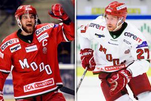 Henrik Björklund och Martin Röymark är båda tillbaka i spel för Modo. Bild: Bildbyrån/Montage