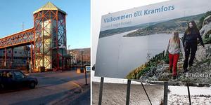 Nu skyltar Kramfors kommun om till infarterna.