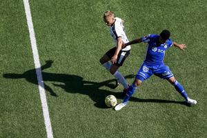 Romain Gall var en av få giffare som hade ett skott på mål i matchen mot ÖSK.