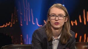 Leo Wågberg i tv-showen Skavlan som sändes under fredagskvällen. Foto: Sveriges Television