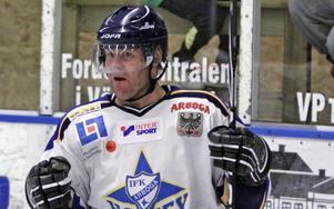 Kjell-Åke Andersson har gjort ett av många mål för Arboga.