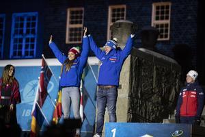 Dorothea Wierer och Lukas Hofer fick med sig en silverpeng att ta med sig hem till Italien.