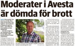 Det var föga populärt hos M i Avesta att tidningen publicerade denna nyhet den 7 september.