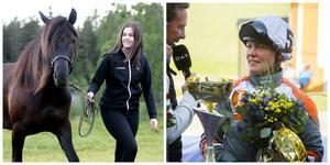 Hanna Reiser debuterade med seger bakom svårstyrd galoppör, och Jenni Åsberg fick äntligen ett perfekt lopp med Front Pace.