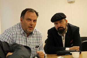 Erik Henriksson och Faris Henry Gergis tycker att  det ska byggas blandat i alla bostadsområden.