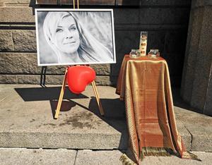 Manifestation till minne av Lotta Rudholm i Härnösand.